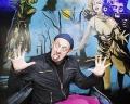 AUSTRIA; Vienna; Austrian Commedian Alf Poier shot in the Geisterbahn/Wiener Prater
