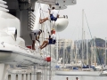 France, Cote d´Azur, In the harbour of Antibes, Yacht of Roman Abramovich  ©  Reiner Riedler / Anzenberger