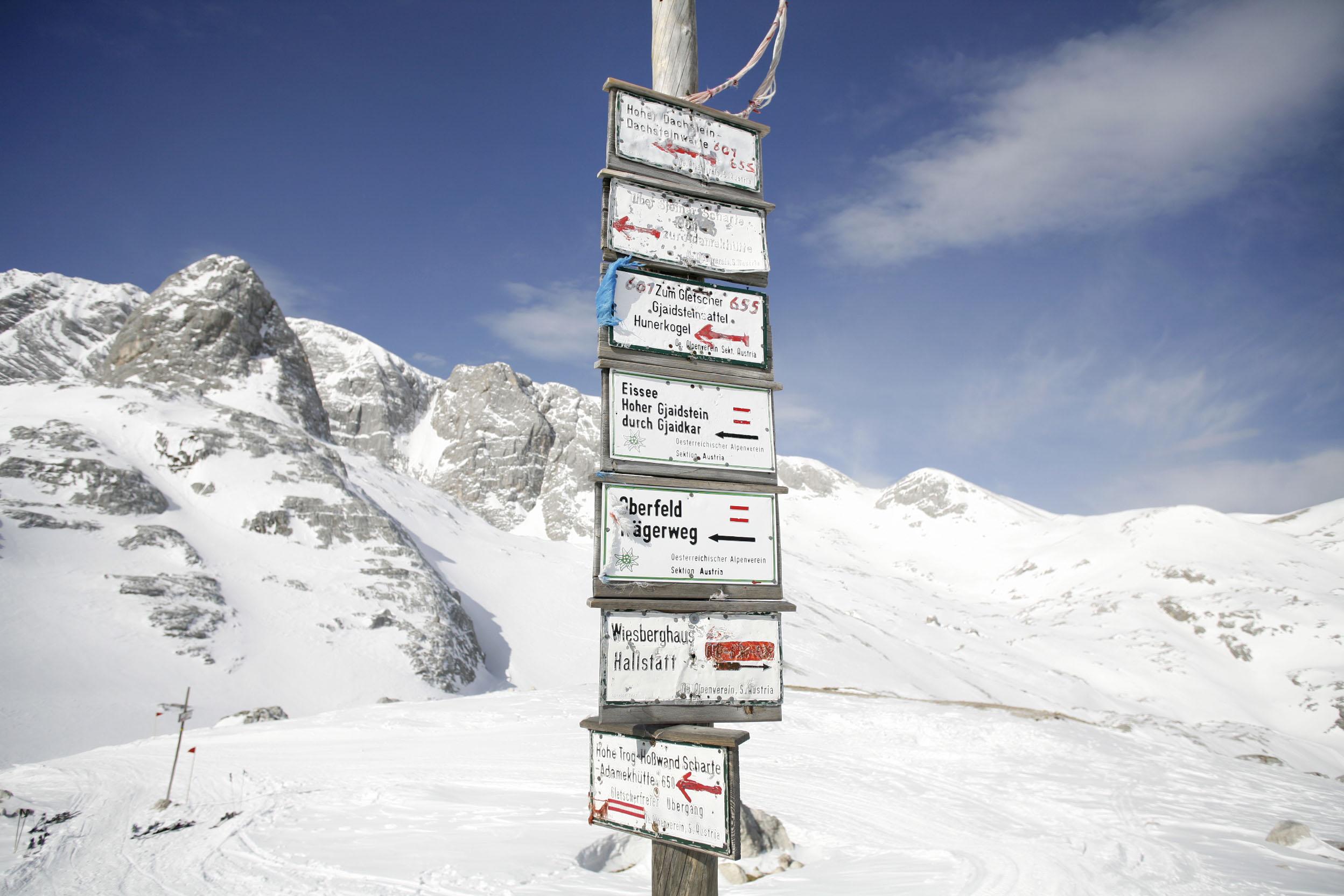Österreich; Schladming; Dachstein; Dachsteinüberquerung, bei der Simonihütte ©  Reiner Riedler