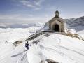 Österreich; Schladming; Dachstein; Dachsteinüberquerung, Kapelle bei der Simonihütte ©  Reiner Riedler