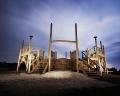 AUSTRIA / Burgenland/  Carnuntum; Gladiator School;  Reconstructed Gladiators' practice arena in Carnuntum's gladiator school at night  © Reiner Riedler/ Anzenberger
