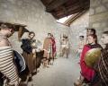 AUSTRIA / Burgenland/  Carnuntum; Gladiator School;  Gladiators before performing inside the reconstructed gladiator school in Carnuntum  © Reiner Riedler/ Anzenberger
