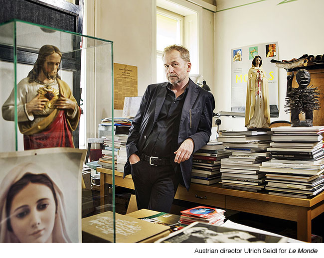 Austrian Director Ulrich Seidl in his office in Vienna, Wasserburggasse