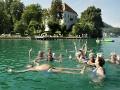 """Austria; Carinthia; Wörthersee, Gymnastikgruppe beim """"Aquajogging"""" im Bad Maria Loretto bei Klagenfurt  ©  Reiner Riedler"""