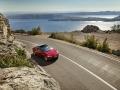 """Kroatien; Tesla; Die Luxuslimousine """"Tesla"""" an der Küste bei Senj"""